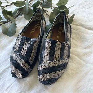 Toms Black and Grey Sequin Classics